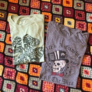 Lucky Brand 2 t-shirt bundle